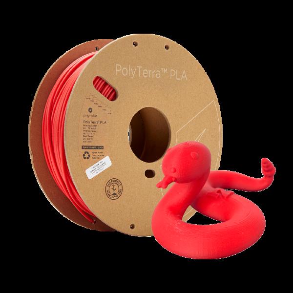 Polymaker PolyTerra Lava Red Snake